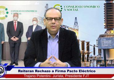 FJT destaca improcedencia de firmar Pacto Eléctrico por no haberse concluido