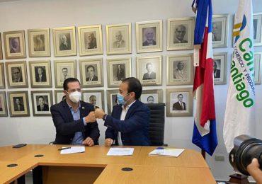 Las Cámaras de Comercio de Santiago y Santo domingo acuerdan implementar firma digital