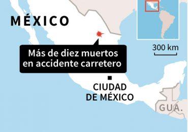 Accidente en carretera del norte de México deja 11 muertos