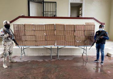 VIDEO   Incautan 320 mil unidades de cigarrillos en zona fronteriza que intentaban contrabandear en RD