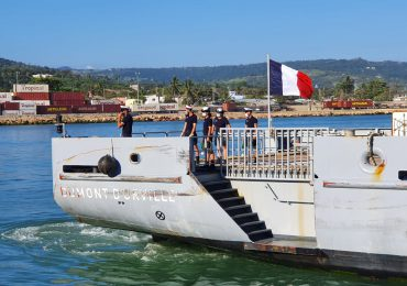 """Buque francés """"Dumont D´ Urville""""atraca en Puerto Plata por ubicación estratégica del país"""