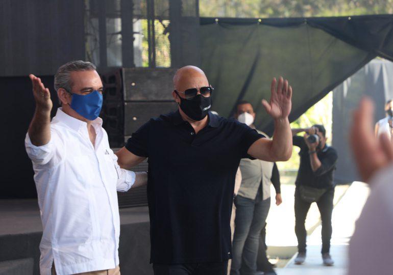 Abinader anuncia construcción de estudio de cine dirigido por Vin Diesel