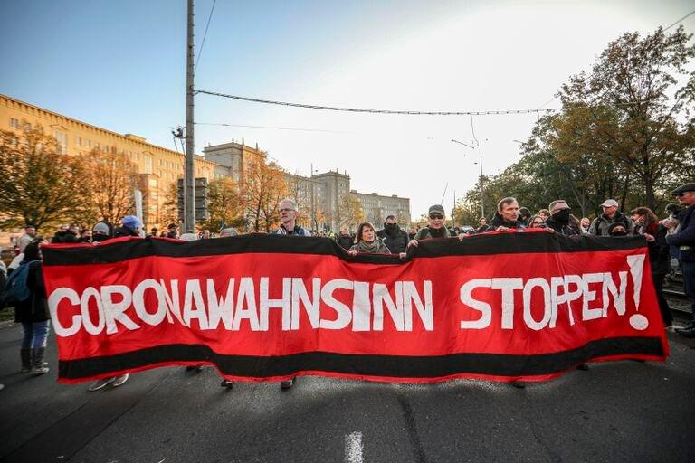 Protestas contra restricciones de covid-19 en Alemania