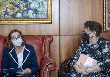 Procuradora Germán Brito coordina con UNICEF acciones de protección a la niñez