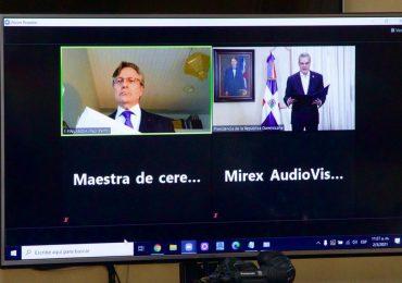 Siete nuevos embajadores entregan cartas credenciales al Presidente Abinader en ceremonia virtual