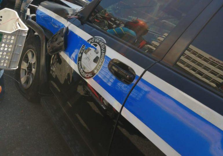 Seguridad Presidencial lamenta muerte de motociclista al chocar con vehículo de la Vicepresidencia