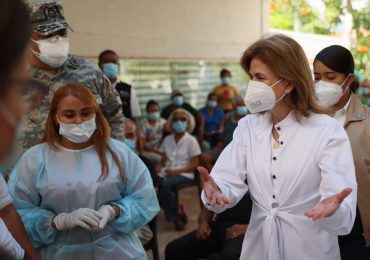 VIDEO | Raquel Peña supervisa los centros de vacunación contra COVID-19