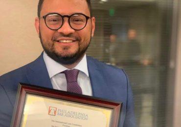 Abogado dominicano es galardonado con premio internacional de DDHH