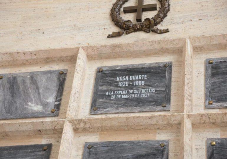 Gobierno exalta a Rosa Duarte y Diez al Panteón de la Patria