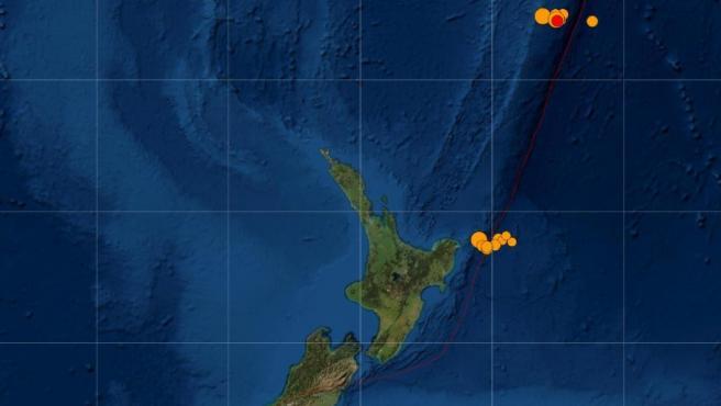Alerta de tsunami tras sismo de magnitud 7,8 ante las islas Kermadec en Nueva Zelanda
