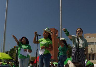 Manifestantes exigen ante el Congreso Nacional la incorporación de las tres causales en el Código Penal