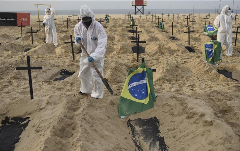 Nuevo récord de muertes diarias por covid-19 en Brasil: 3.650 en 24 horas