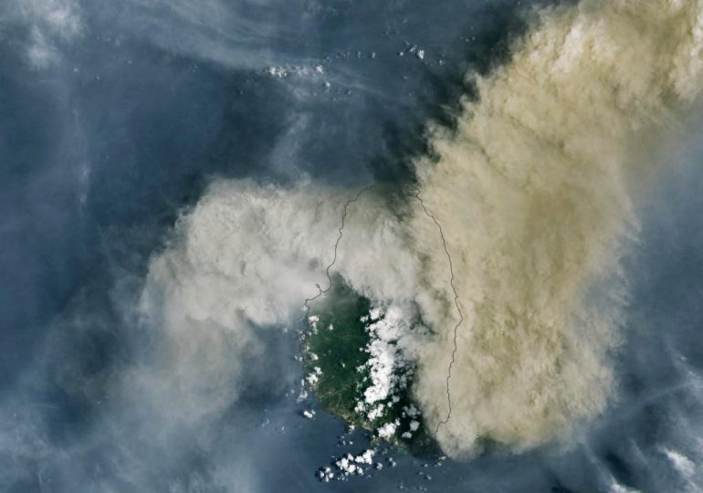 Onamet infoma azufre del volcán La Soufriere no afecta  RD