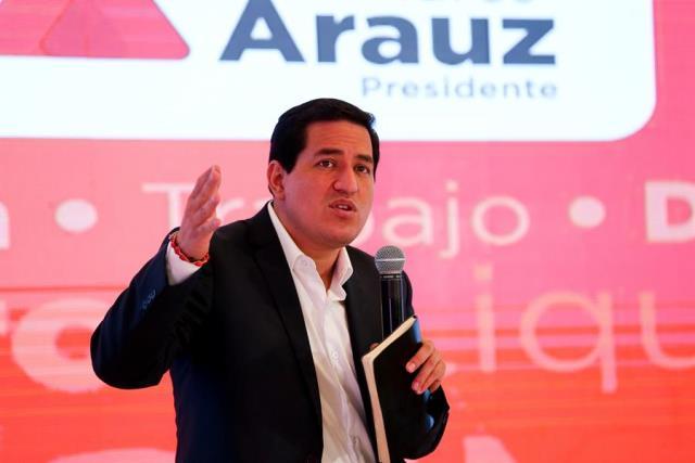 Andrés Arauz se anticipa a resultados y se presenta como ganador en Ecuador