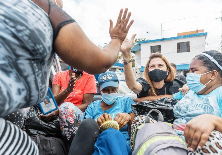 Carolina Mejía inspecciona trabajos de construcción del Bulevar de Honduras