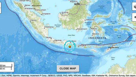 Al menos seis muertos en sismo registrado cerca de la isla Indonesia de Java