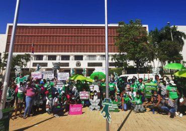 Movimiento por las causales continúa en Palacio Nacional mientras se reanuda debate en Cámara de Diputados