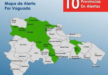 COE eleva a 10 las provincias en alerta verde