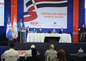 MOPC sortea 14 obras en Monte Plata y Sánchez Ramírez valoradas en más de RD$163 millones