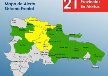 COE mantiene en alerta verde a 16 provincias y cinco en alerta amarilla