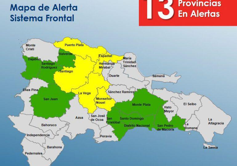 VIDEO | COE informa se mantienen cinco provincias en altera amarilla y ocho en verde por sistema frontal