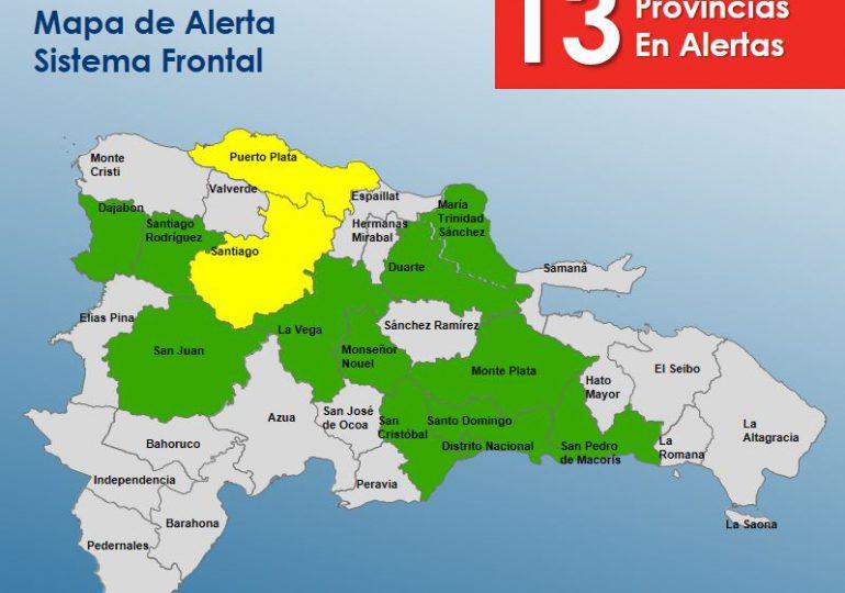 COE mantiene en alerta verde a 11 provincias y dos en alerta amarilla