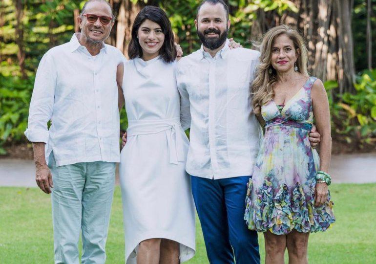 Carolina Santana contrae matrimonio con Jan Rodríguez, hijo del compositor José Antonio Rodríguez