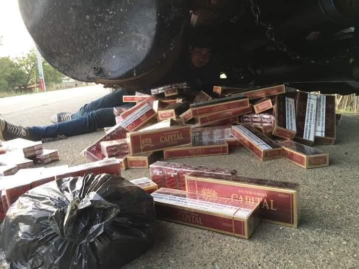 CESFRONT detiene camión  con cigarrillos de contrabando en Montecristi