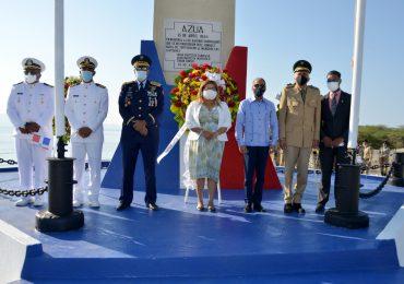 Armada Dominicana, Efemérides Patria y Gobernación de Azua conmemoran aniversario Batalla de Tortuguero