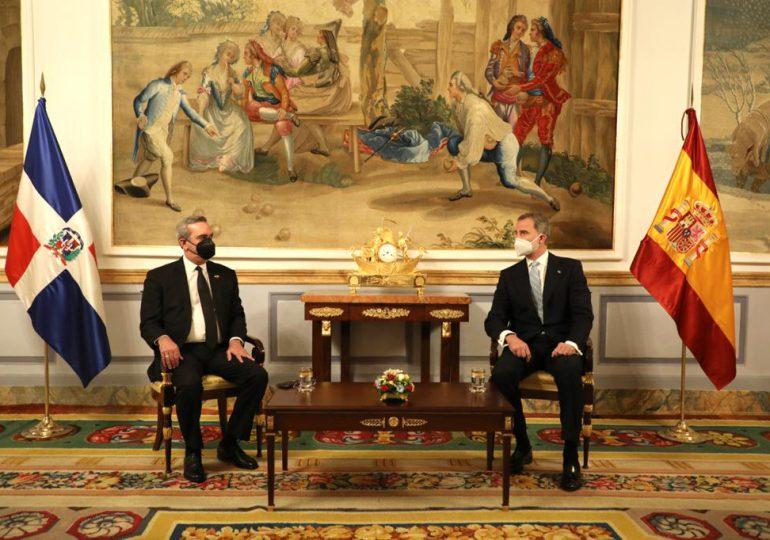 Presidente Abinader se reúne con el rey de España, Felipe VI
