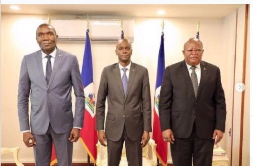 Presidente de Haití se reúne con Presidentes del Senado y Tribunal de Casación para discutir situación socio-político-económica