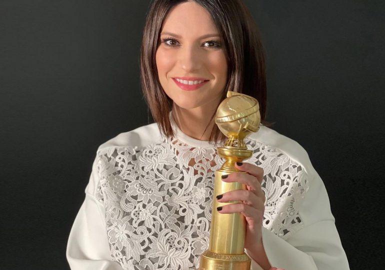 Laura Pausini recibe su Globo de oro