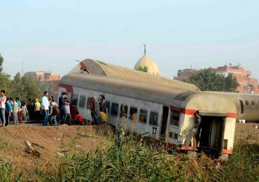 Accidente ferroviario provoca cerca de 100 heridos en el norte de Egipto