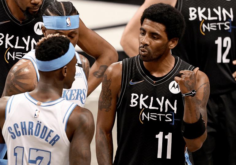 Los Lakers sorprenden a Nets con Irving y Schröder expulsados