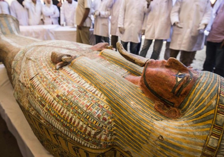 Ramsés II y Hatshepsut, en el desfile de las momias reales en El Cairo