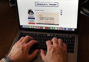 Trump lanza nueva plataforma de 'comunicaciones'