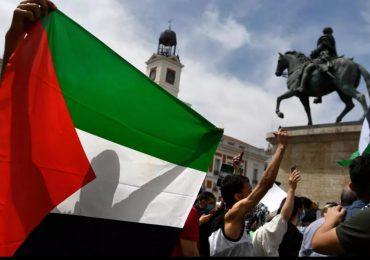 Unas 2.500 personas se manifiestan en Madrid por la causa palestina