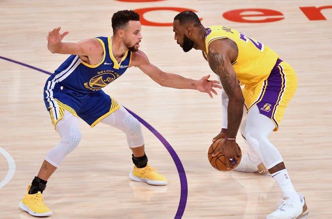 LeBron contra Curry, un duelo legendario por un boleto a los playoffs de la NBA