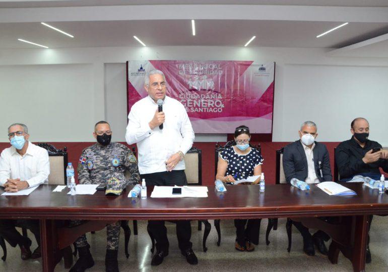 Mesa de Seguridad Ciudadanía de Santiago pasa balance a trabajos realizados