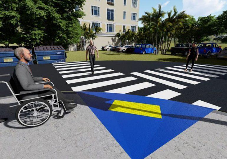 Alcaldía Santiago construye rampas en aceras de calles, avenidas y parques