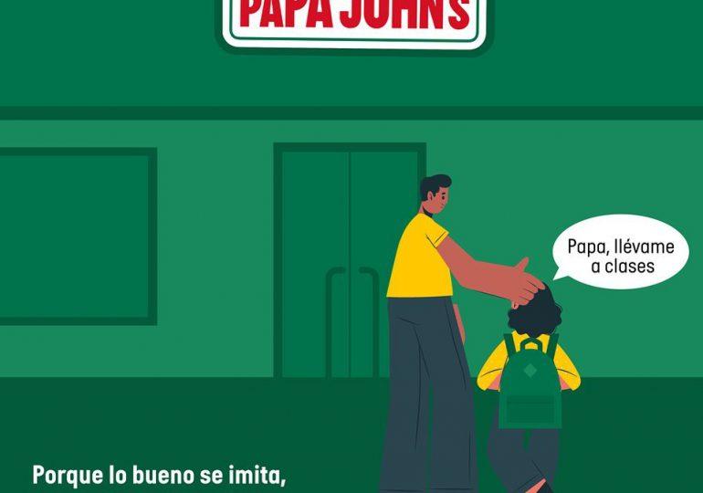 Pizzería Papa John's también convierte en aulas sus instalaciones