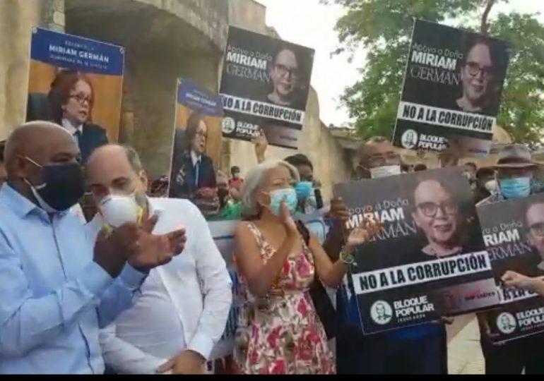 Organizaciones se manifiestan en apoyo a las acciones de Mirian Germán