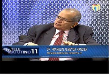 Franklin Almeyda sostiene corrupción se desbordó durante gobiernos de Danilo Medina
