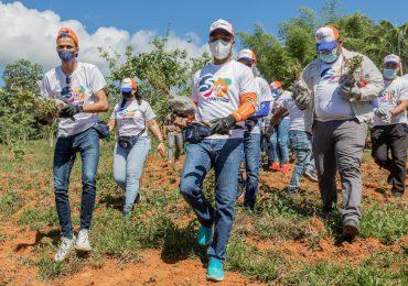Edesur siembra 4,800 plantas en los Mogotes de Villa Altagracia