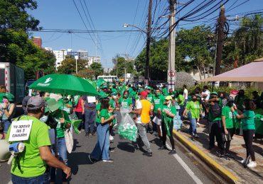Avenida México se viste de verde en apoyo a las tres causales del aborto