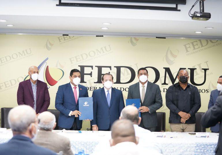 Fedomu y MAPRE acuerdan construcción de obras y equipamiento para ayuntamientos