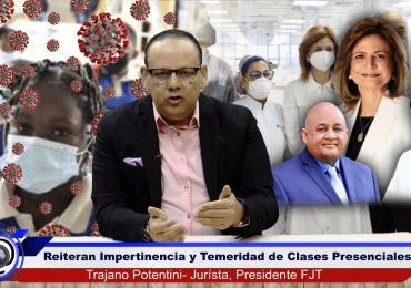 FJT pide a UNICEF intervención por posible contagio de covid-19 en escuelas dominicanas