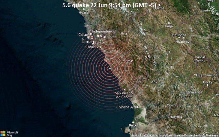Sismo de magnitud 6,0 sacude Lima y costa central de Perú