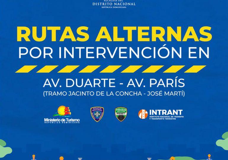 Alcaldía DN anuncia intervención de avenida Duarte y París para este lunes
