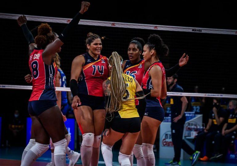 Las Reinas del Caribe logran sexto triunfo; vencen a Italia en Liga de Naciones